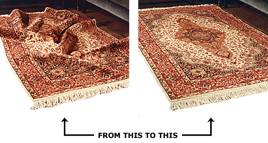 Specifically designed for use when Oriental or area rugs are used over